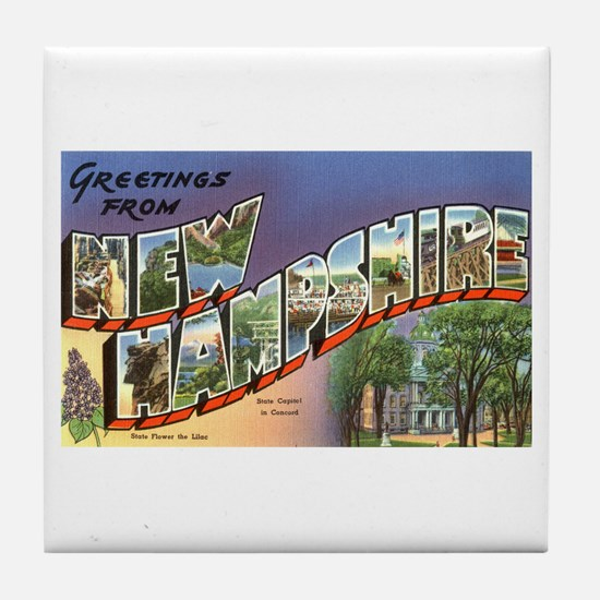 Greetings from New Hampshire Tile Coaster