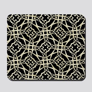 gold GEOMETRIC PATTERN Mousepad