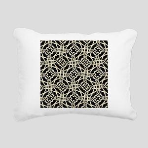gold GEOMETRIC PATTERN Rectangular Canvas Pillow
