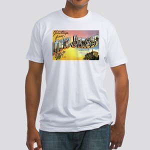 Greetings from New Jersey Fitted T-Shirt