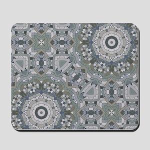 grey GEOMETRIC PATTERN Mousepad