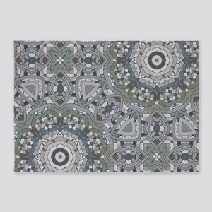 grey GEOMETRIC PATTERN 5'x7'Area Rug