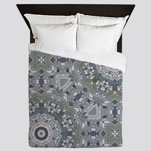 grey GEOMETRIC PATTERN Queen Duvet