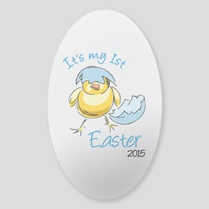 It's My First Easter 2015 Sticker (Oval)