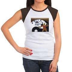Robot vs Samurai Women's Cap Sleeve T-Shirt