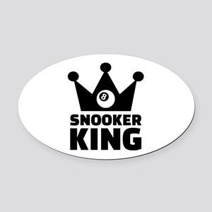 Snooker king crown Oval Car Magnet