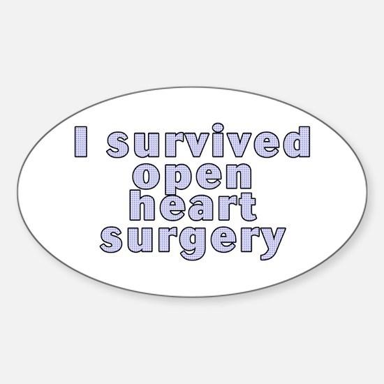 Open heart surgery - Sticker (Oval)