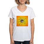 Psychedelic Sun Women's V-Neck T-Shirt