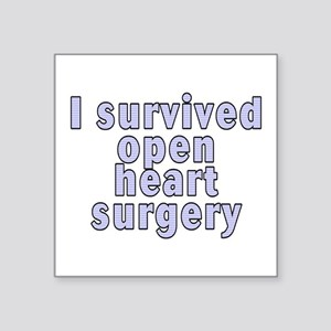 "Open heart surgery - Square Sticker 3"" x 3"""