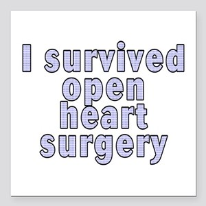"Open heart surgery - Square Car Magnet 3"" x 3"""