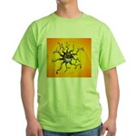Psychedelic Sun Green T-Shirt