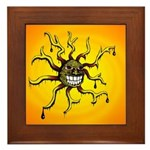 Psychedelic Sun Framed Tile