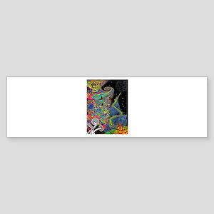 Psychedelic Landscape Bumper Sticker