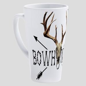 deer bow hunter 17 oz Latte Mug