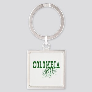 Colombia Roots Square Keychain