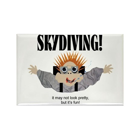 Skydiving Rectangle Magnet (10 pack)