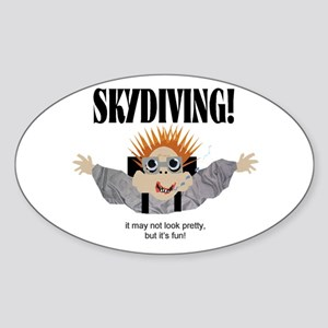 Skydiving Oval Sticker
