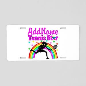 TENNIS PLAYER Aluminum License Plate