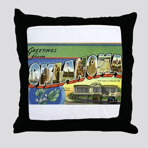 Greetings from Oklahoma Throw Pillow