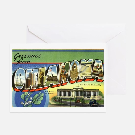 Greetings from Oklahoma Greeting Cards (Package of