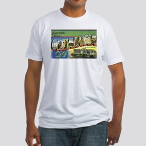 Greetings from Oklahoma Fitted T-Shirt