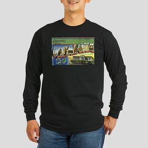 Greetings from Oklahoma Long Sleeve Dark T-Shirt
