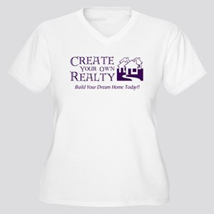 Create Realty Women's Plus Size V-Neck T-Shirt