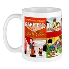 Garfield In Paradise Mugs
