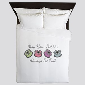 May Your Bobbin Always Be Full Queen Duvet