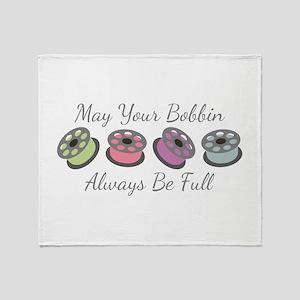 May Your Bobbin Always Be Full Throw Blanket