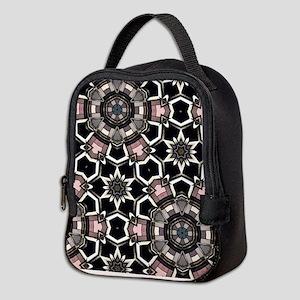 pink GEOMETRIC PATTERN Neoprene Lunch Bag