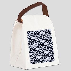 blue Geometric pattern Canvas Lunch Bag