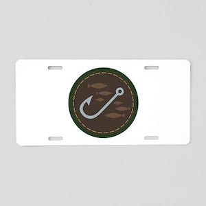 Fishing Circle Aluminum License Plate