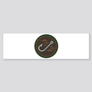 Fishing Circle Bumper Sticker