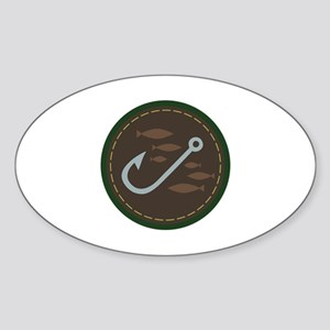Fishing Circle Sticker