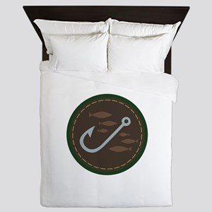 Fishing Circle Queen Duvet