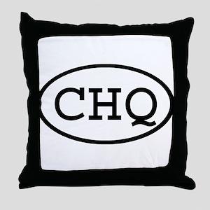 CHQ Oval Throw Pillow