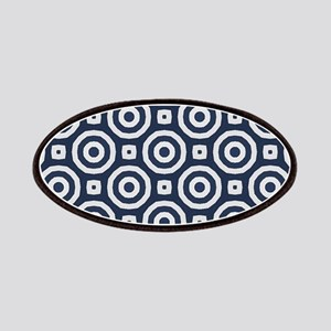 blue Geometric pattern Patches
