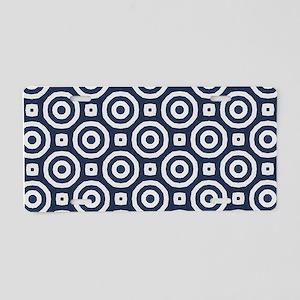 blue Geometric pattern Aluminum License Plate