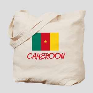 Cameroon Flag Artistic Red Design Tote Bag
