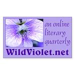 Wild Violet Rectangle Sticker