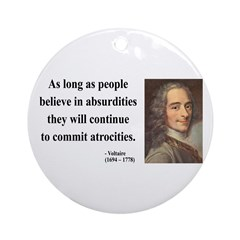 Voltaire 2 Ornament (Round)