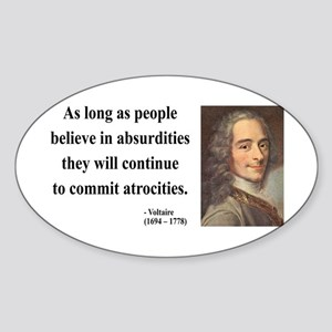 Voltaire 2 Oval Sticker