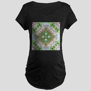 green diamond bling Maternity T-Shirt