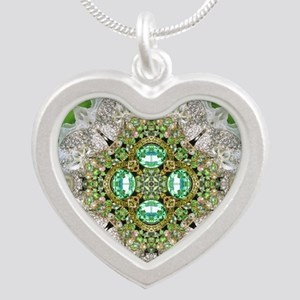 green diamond bling Necklaces