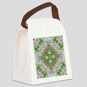 green diamond bling Canvas Lunch Bag