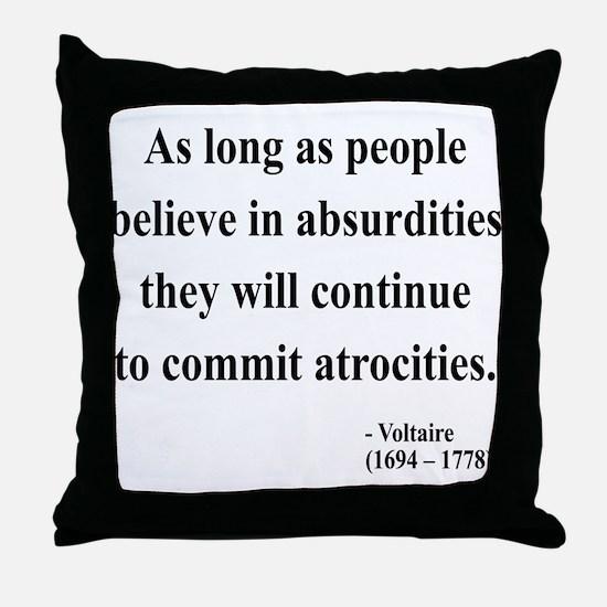 Voltaire 2 Throw Pillow