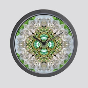 green diamond bling Wall Clock