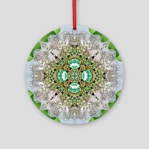 green diamond bling Ornament (Round)