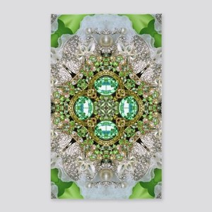 green diamond bling 3'x5' Area Rug